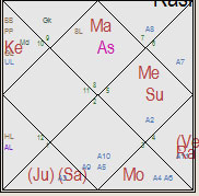 Vedic Astrology Birth Chart of a manufacturer