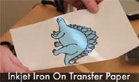 Dinosaur on a paper